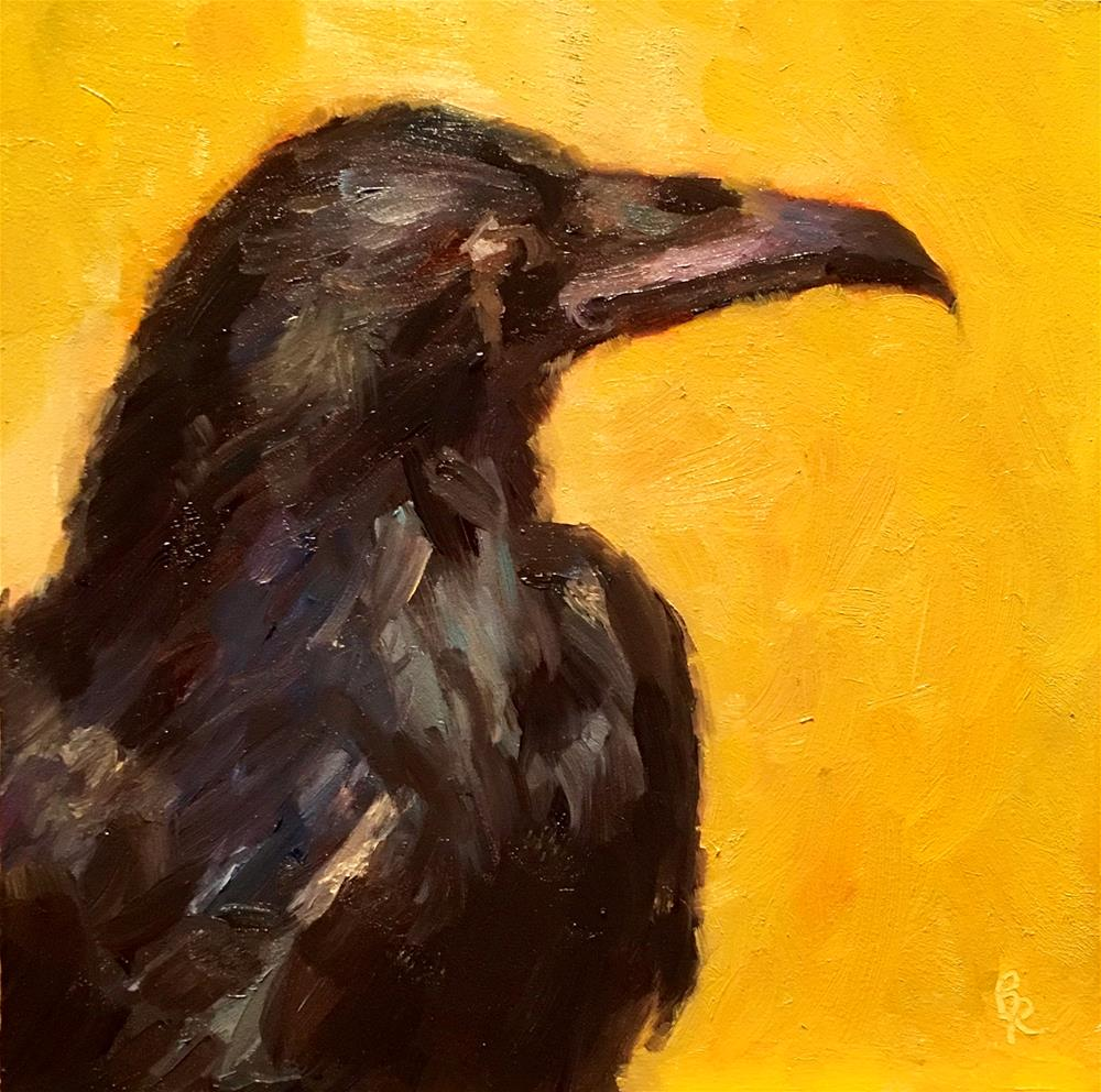 """Something To Crow About"" original fine art by Barbara Ramp"