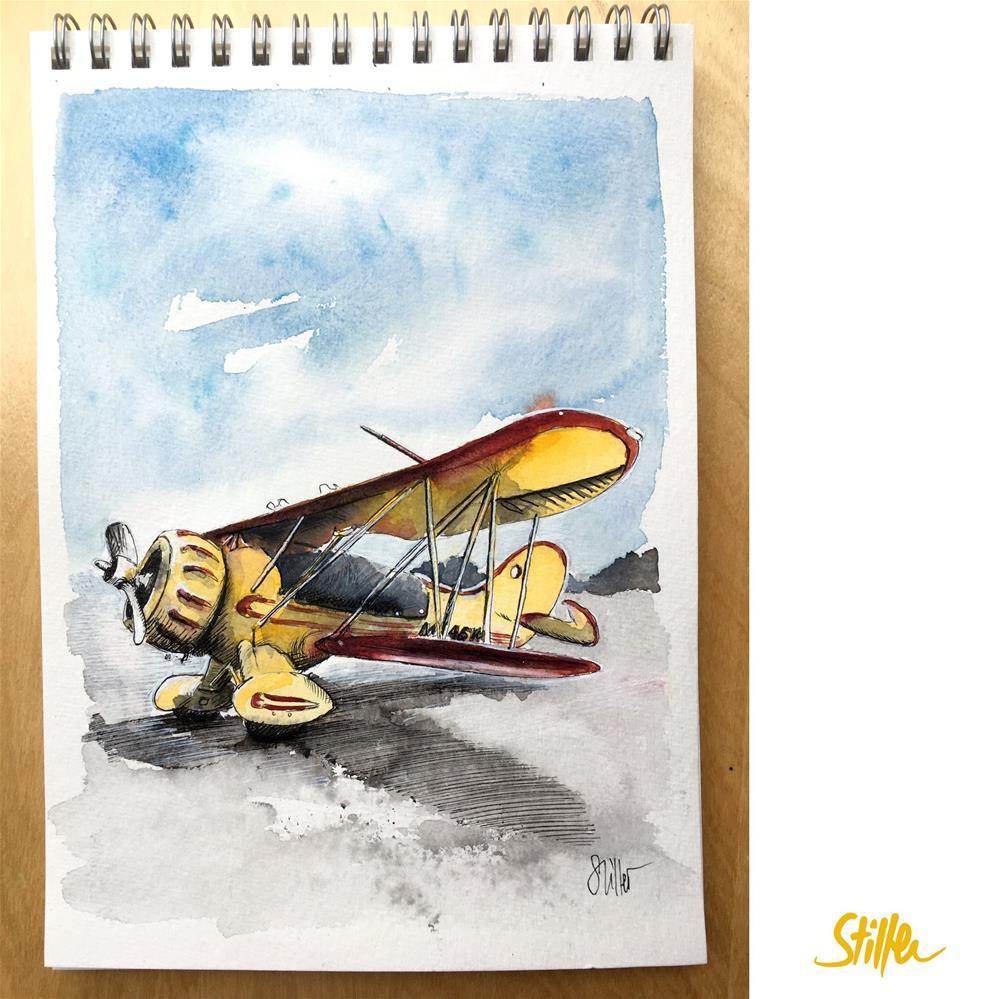 """""""3603 Flyer"""" original fine art by Dietmar Stiller"""