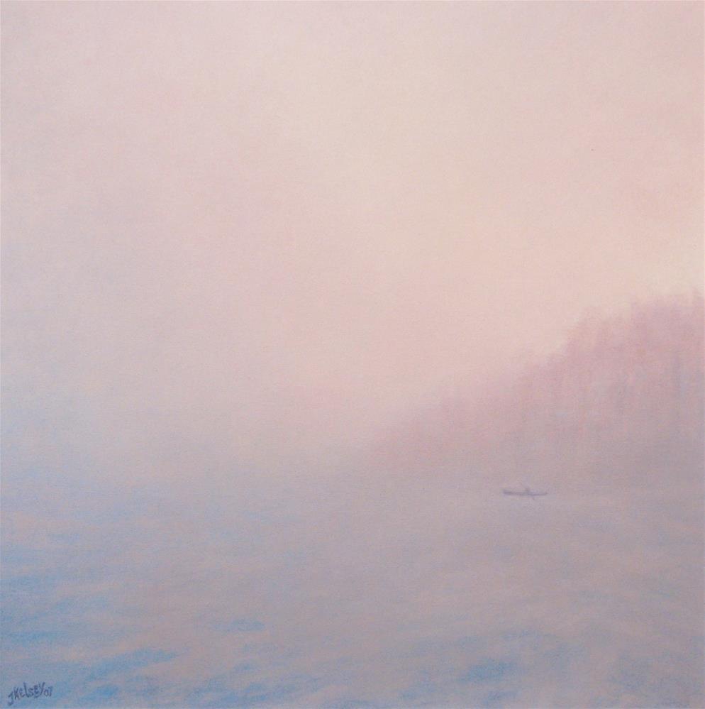 """Mist Off Shore"" original fine art by J Kelsey"