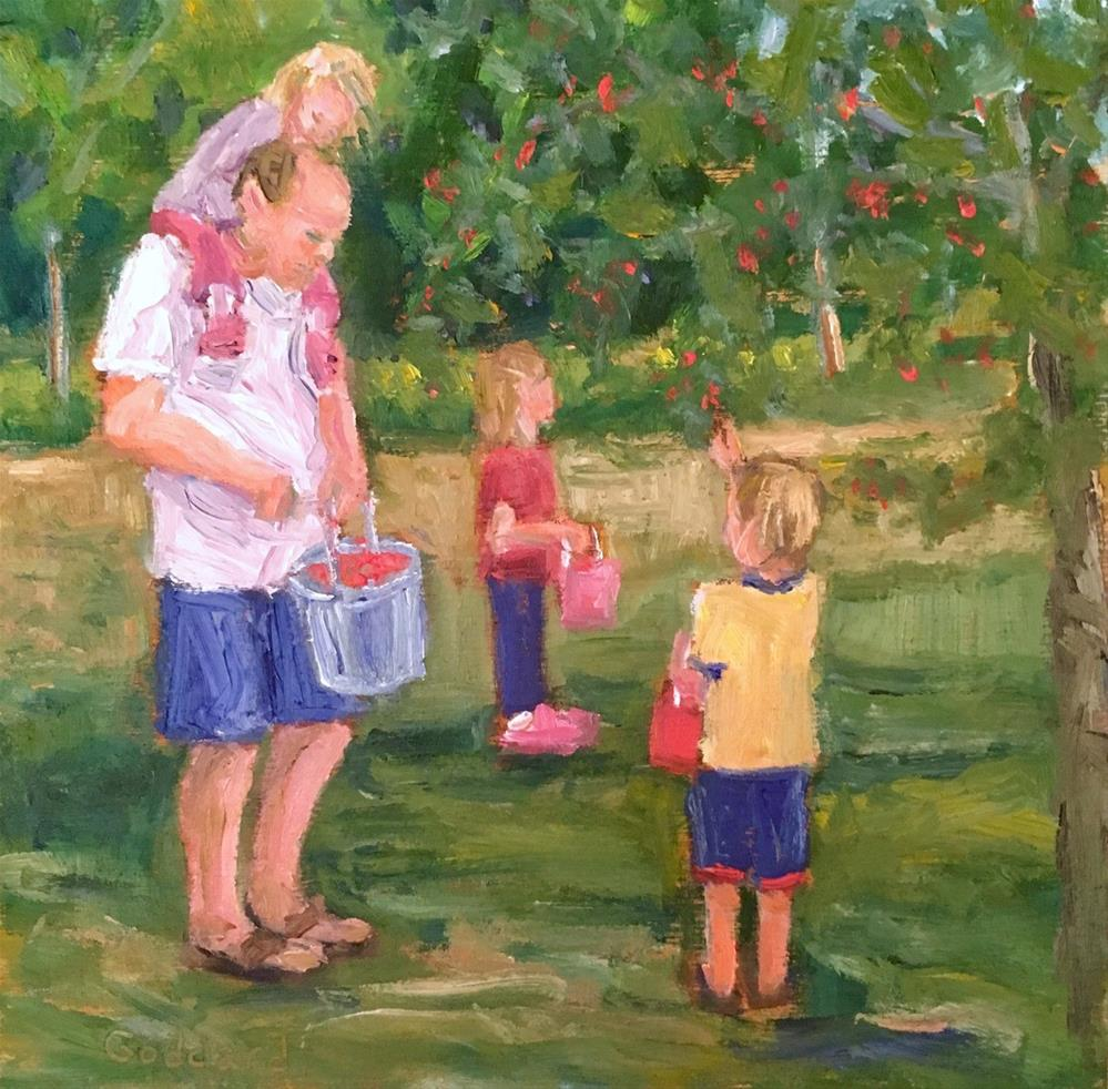"""Enough for a Pie"" original fine art by Shari Goddard Shambaugh"