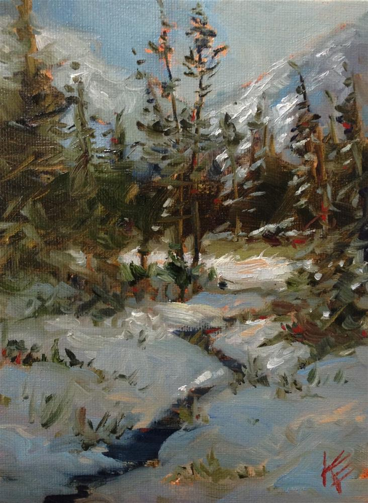 """Winter memories"" original fine art by Krista Eaton"