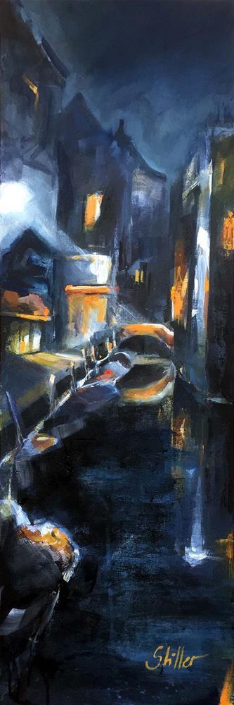 """3370 Dark November 11 (Nights in Venice)"" original fine art by Dietmar Stiller"