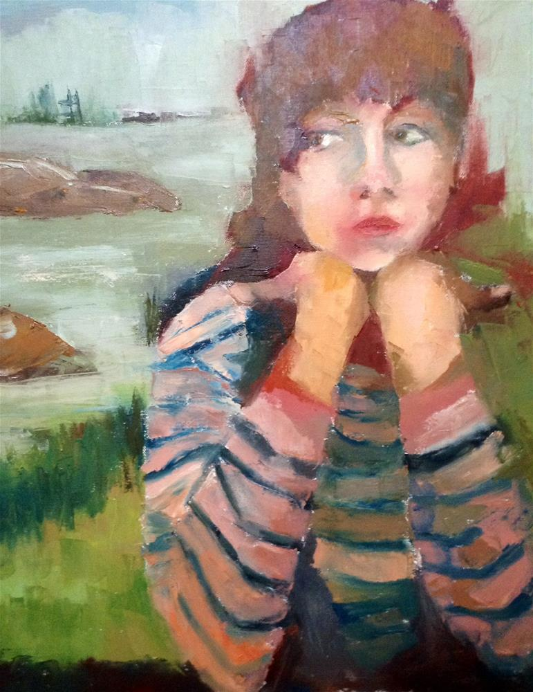 """""""Island Girl"""" original fine art by Carol Wiley"""