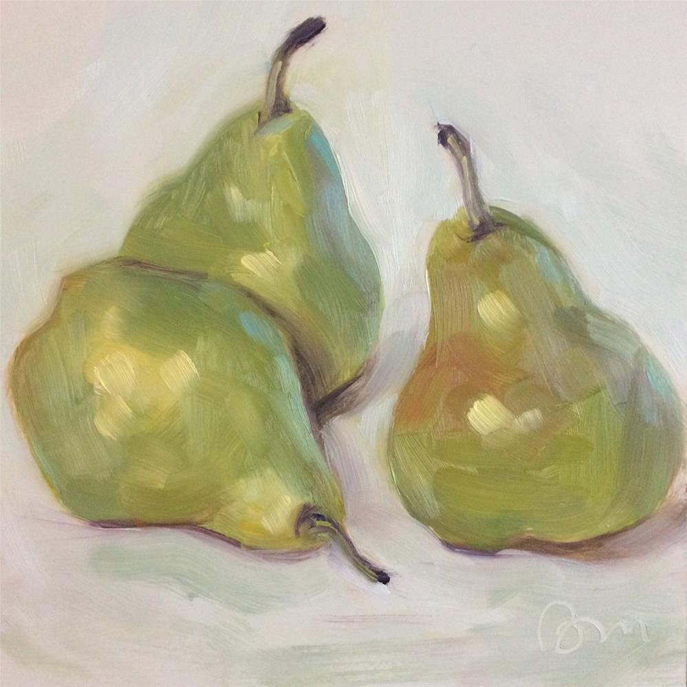 """Pears - three"" original fine art by Beth Moreau"