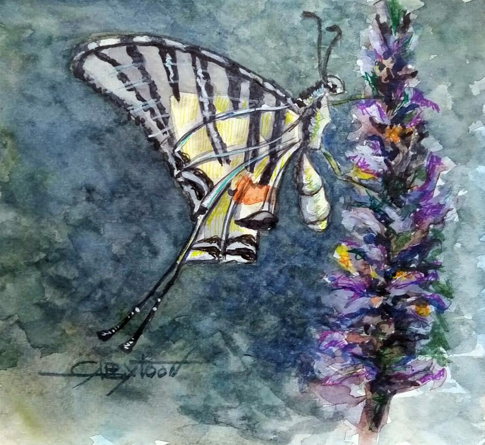 """Butterfly"" original fine art by Gabriella DeLamater"