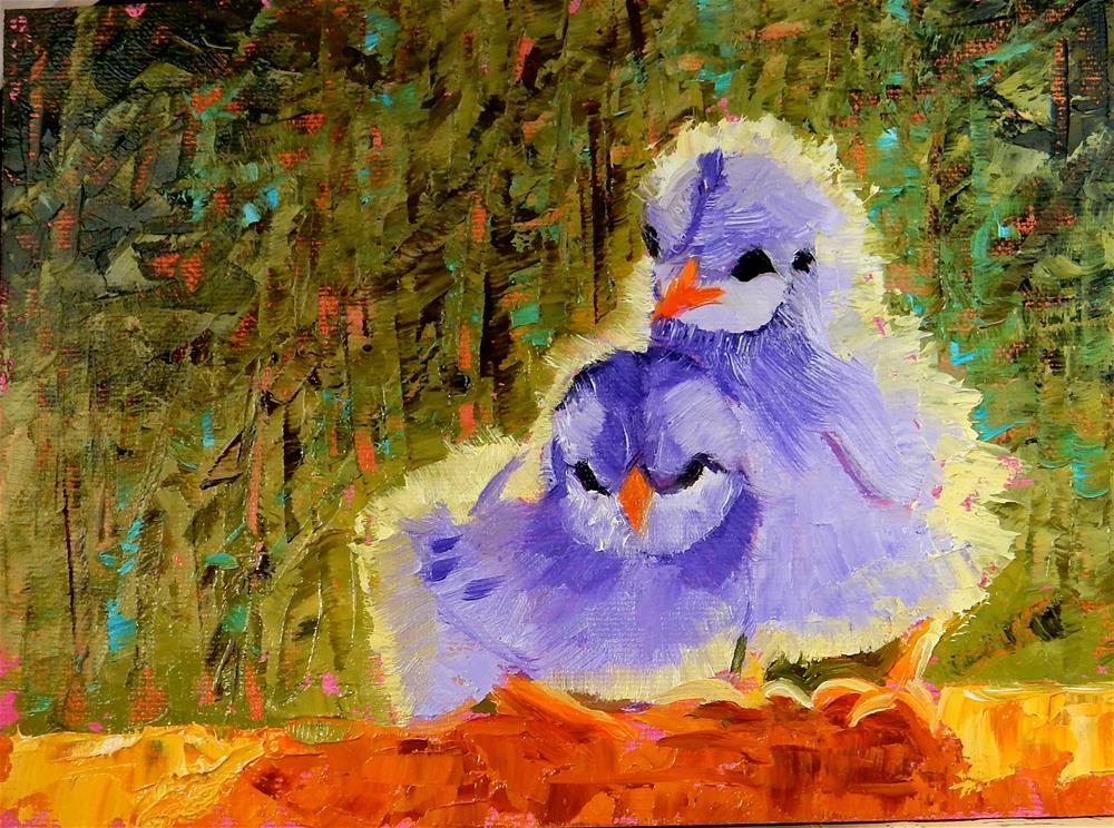 """I'll Keep you Safe"" original fine art by Phyllis Davis"