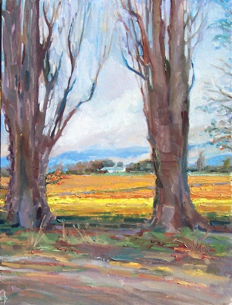 """Early Tulips,Landscape,oil on canvas,24x18,priceNFS"" original fine art by Joy Olney"