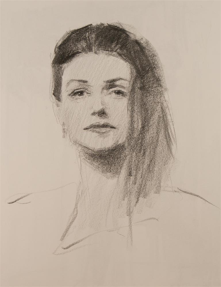 """Pencil Sketch"" original fine art by Mike Peterson"