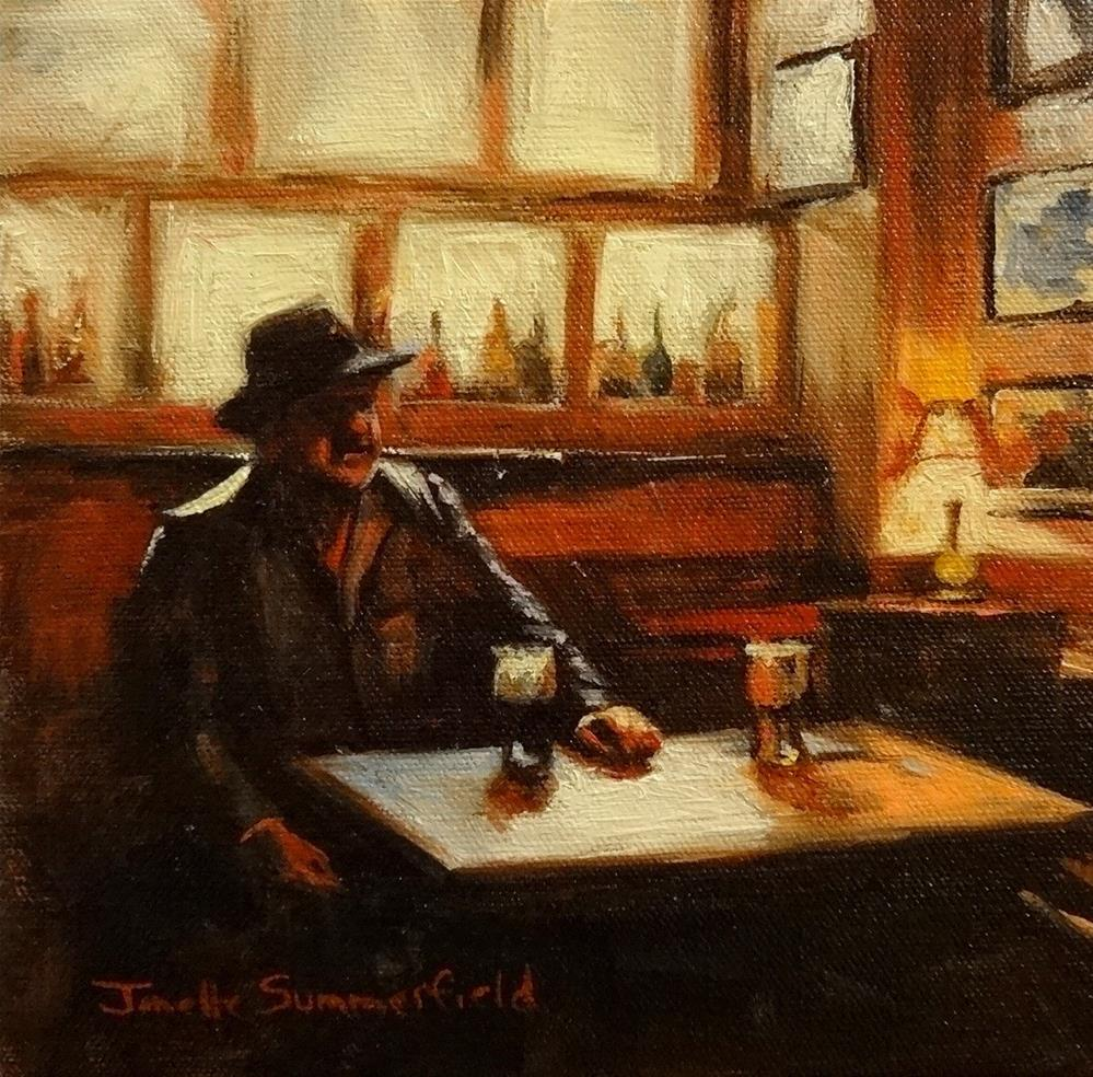 """Off Duty Fisherman"" original fine art by Jonelle Summerfield"