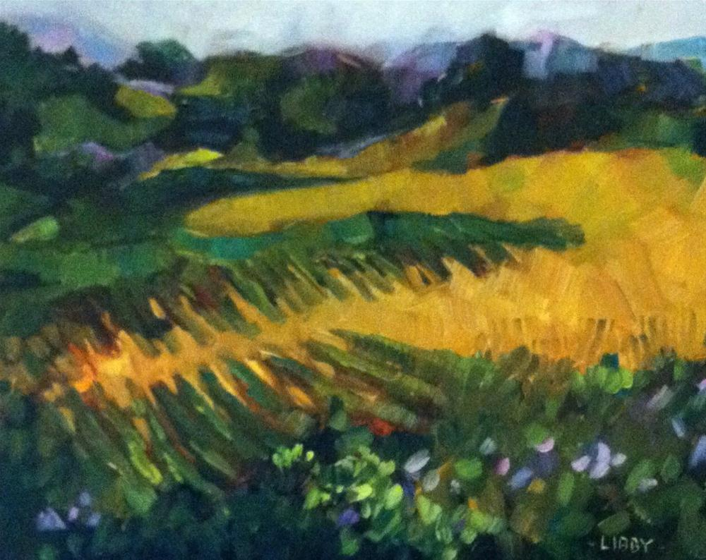 """Napa view"" original fine art by Libby Anderson"