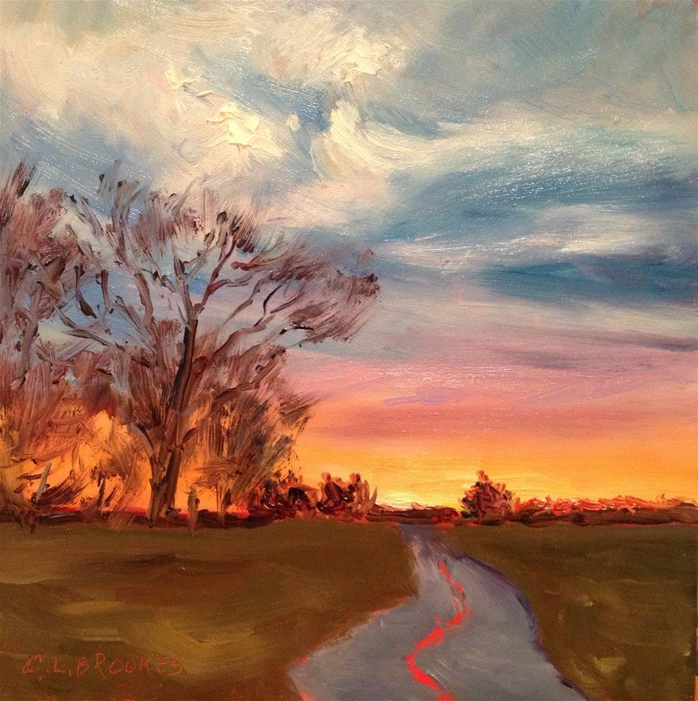 """Winter Solstice"" original fine art by Claudia L Brookes"