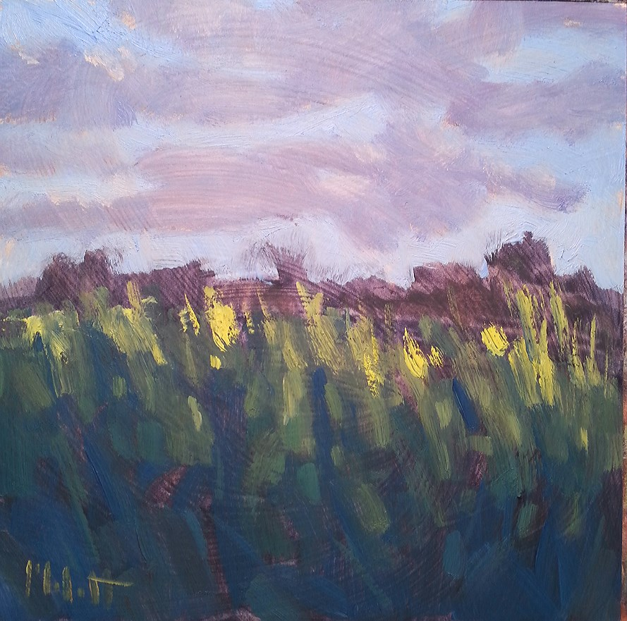 """Walking through the Corn Rural Impressions"" original fine art by Heidi Malott"