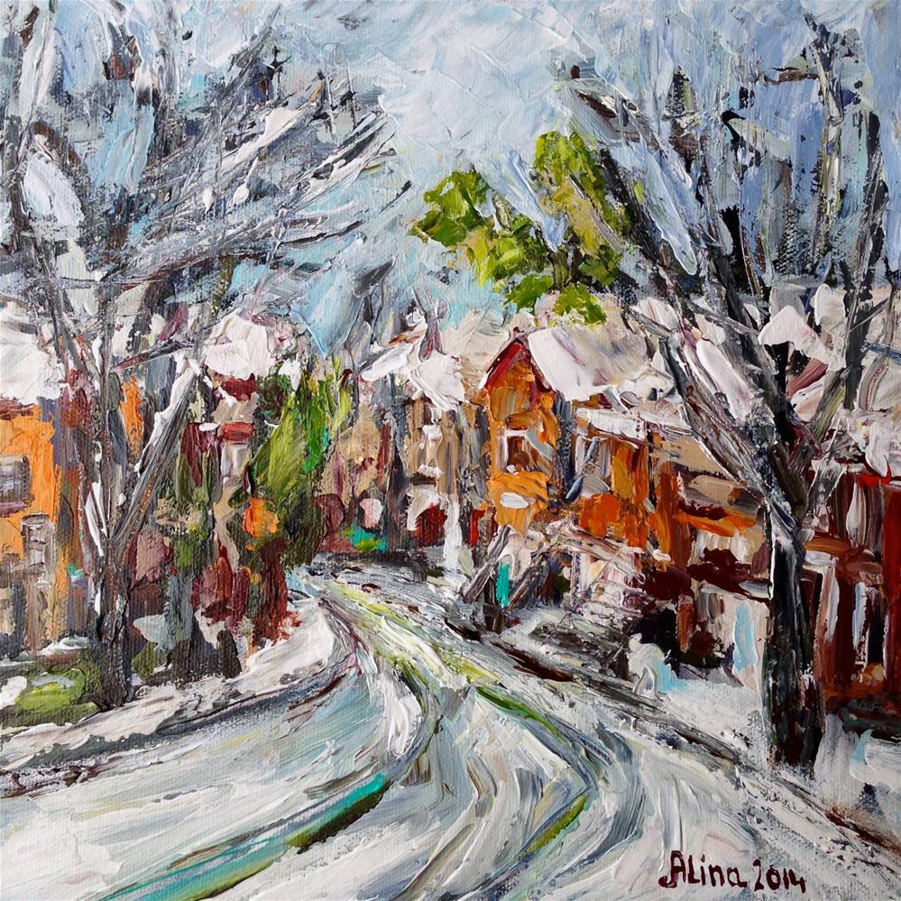 """""""Snow Day"""" original fine art by Alina Vidulescu"""