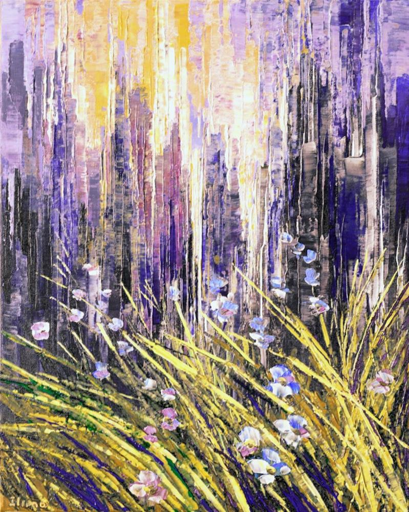 """Urban Grasslands"" original fine art by Tatiana Iliina"