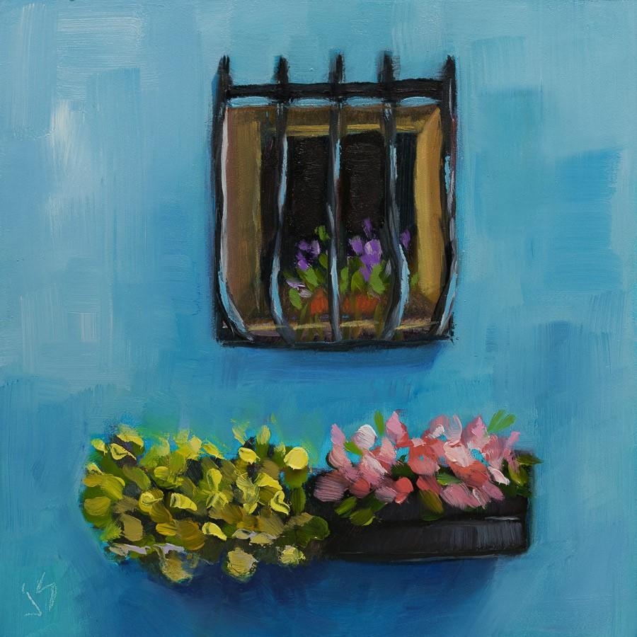"""Turquoise Wall"" original fine art by Johnna Schelling"