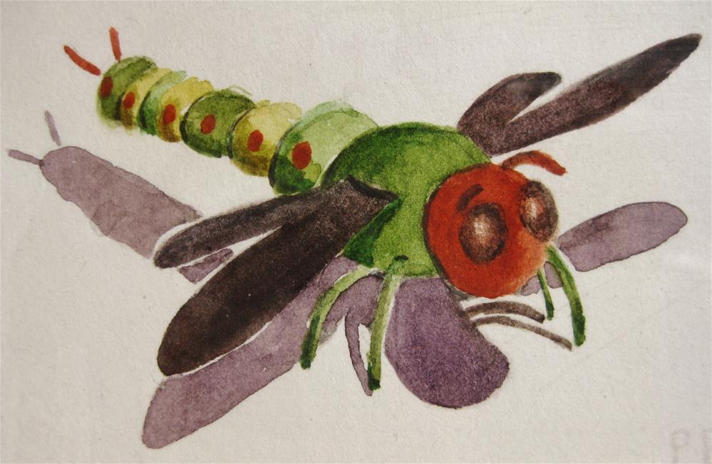 """Dragonfly"" original fine art by Priscilla Bohlen"