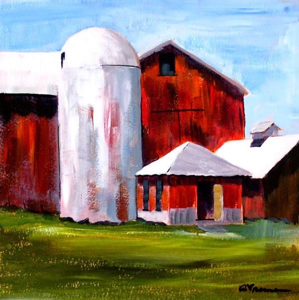 """""""Barn #3"""" original fine art by Anna Vreman"""