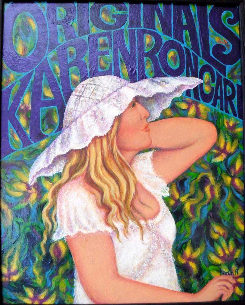 """My Sign"" original fine art by Karen Roncari"