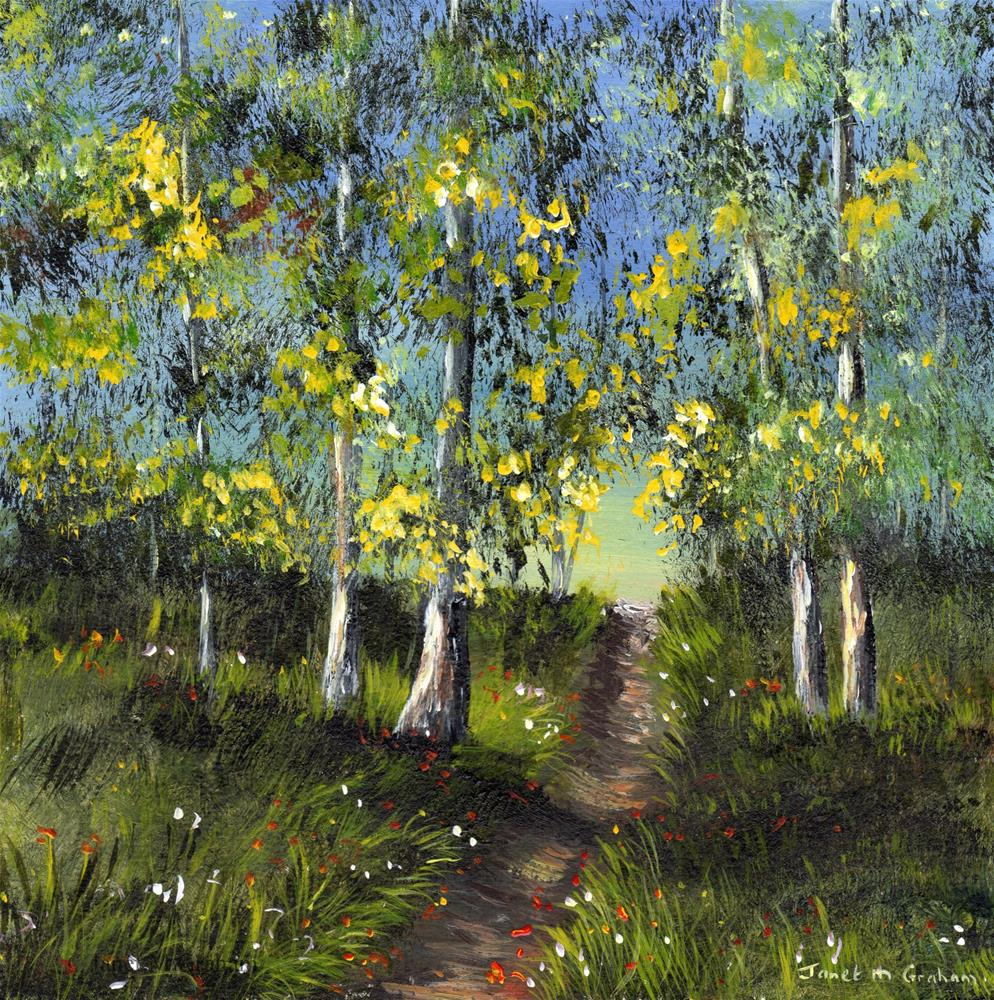 """Walk in the Woods"" original fine art by Janet Graham"