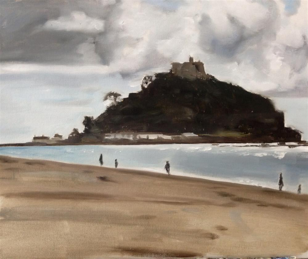 """St Michael's Mount, Cornwall"" original fine art by James Coates"
