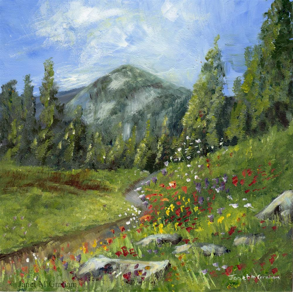 """""""Spring in the Mountains"""" original fine art by Janet Graham"""