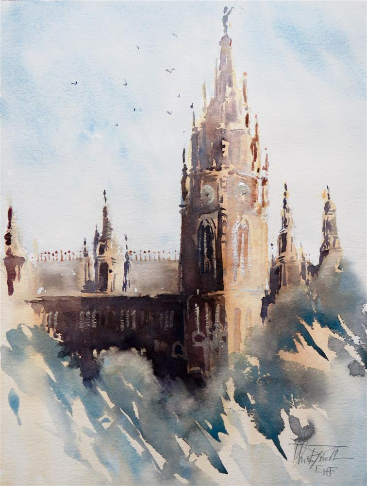 """Vienna Cityhall"" original fine art by Christa Friedl"