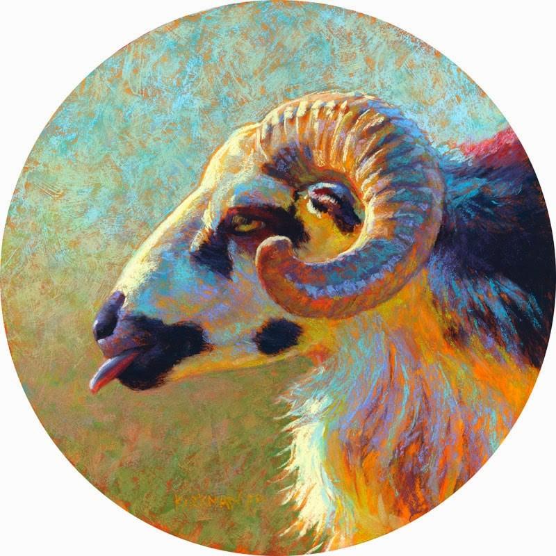 """Dodge"" original fine art by Rita Kirkman"