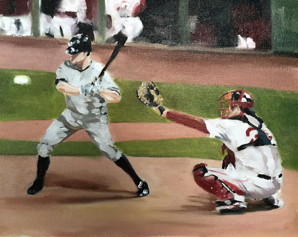 """Baseball"" original fine art by James Coates"