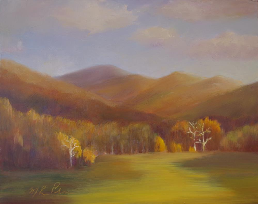 """Three Trees Outside of Black Mountain, NC"" original fine art by Marilyn R. Place"