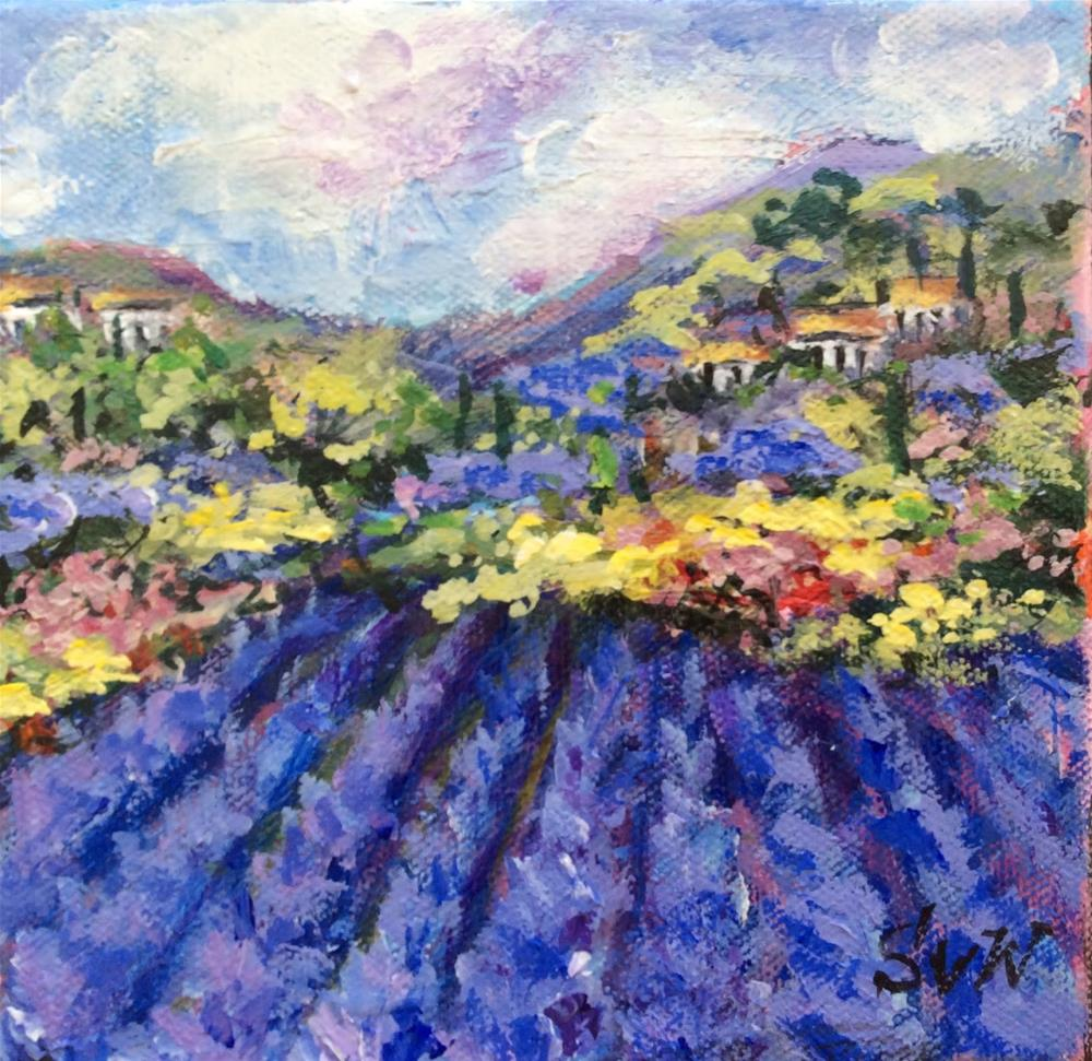 """Dream of  Provence"" original fine art by Sonia von Walter"