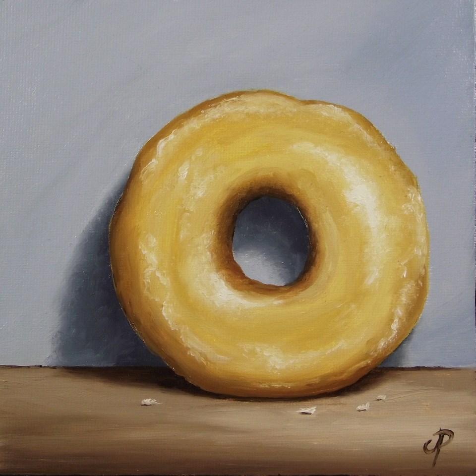 """""""Glazed Donut"""" original fine art by Jane Palmer"""