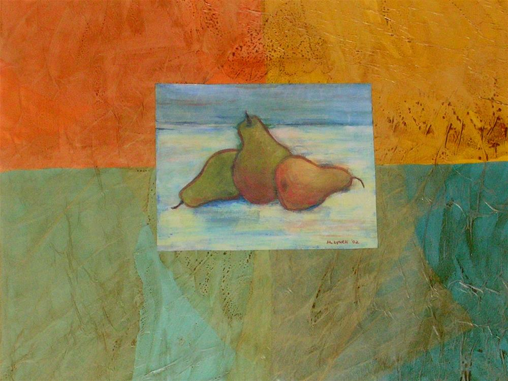 """Three Pears"" original fine art by Marie Lynch"