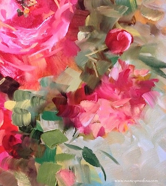 """""""The Wait Is Over - My New E-Course Is Here - Painting Brilliant Colors"""" original fine art by Nancy Medina"""