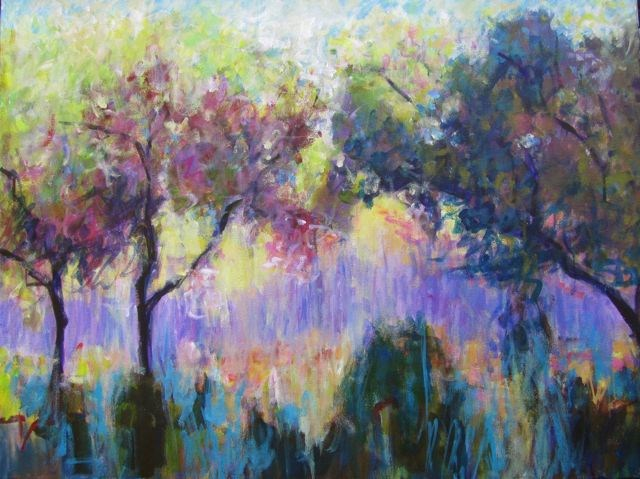 """""""Olive Trees and Lavender"""" original fine art by Patricia MacDonald"""