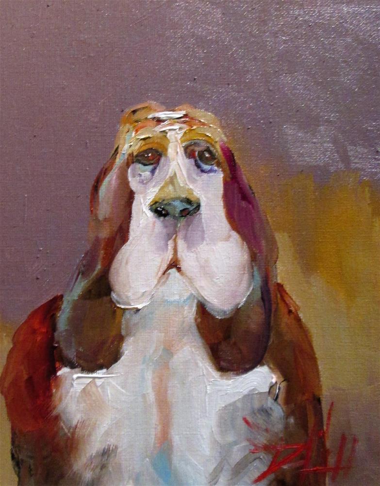 """Basset Hound"" original fine art by Delilah Smith"