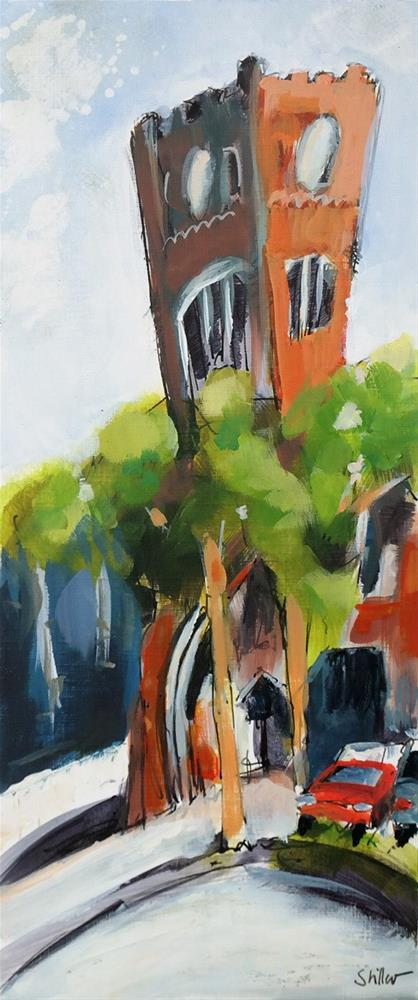 """2922 Hanover Clocktower"" original fine art by Dietmar Stiller"