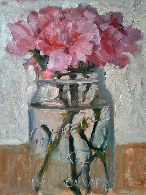 """Pink Carnations"" original fine art by Darlene Young"