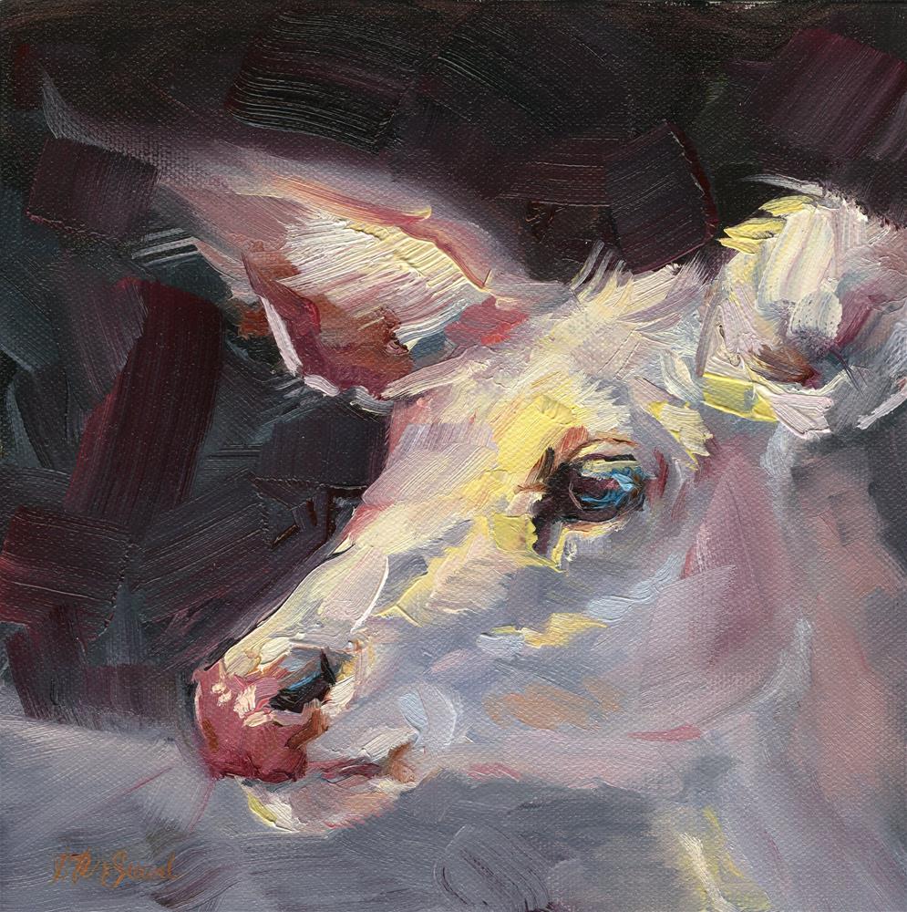 """Albino Whitetail"" original fine art by B. Rex Stewart"
