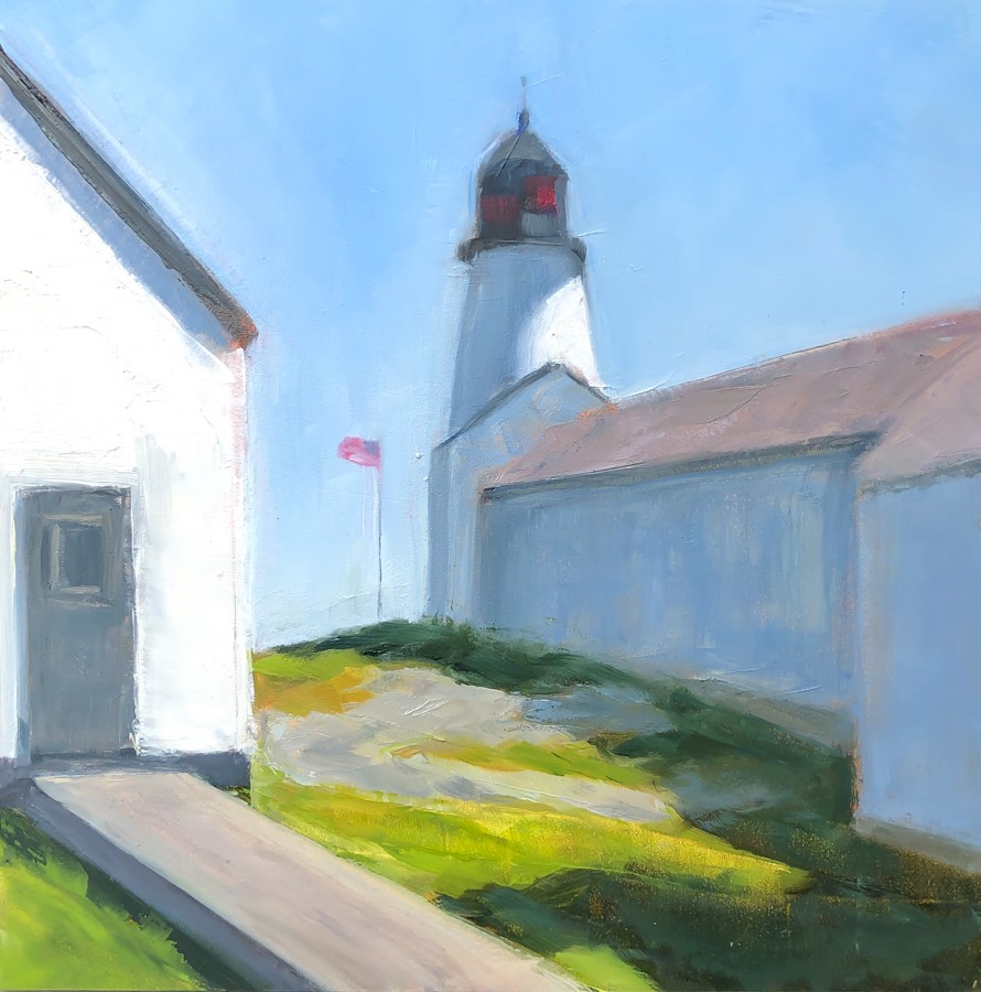 """#227 - Burnt Island Light - Boothbay Harbor, ME"" original fine art by Sara Gray"