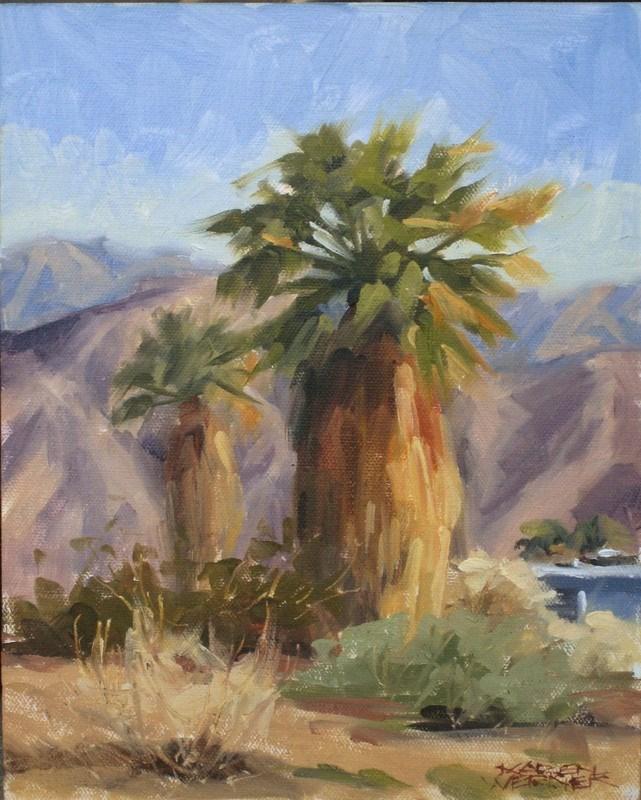 """""""Campground Palms"""" original fine art by Karen Werner"""