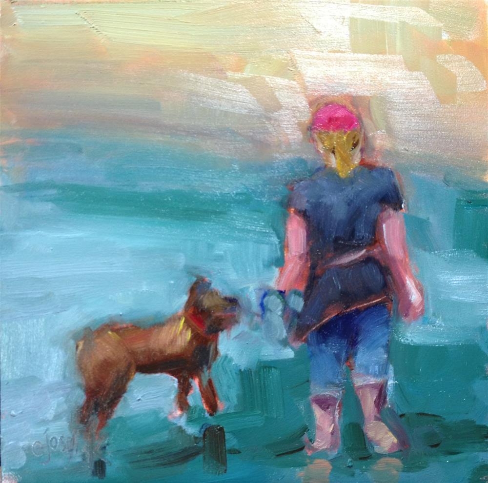 """Happy Dog"" original fine art by Carol Josefiak"