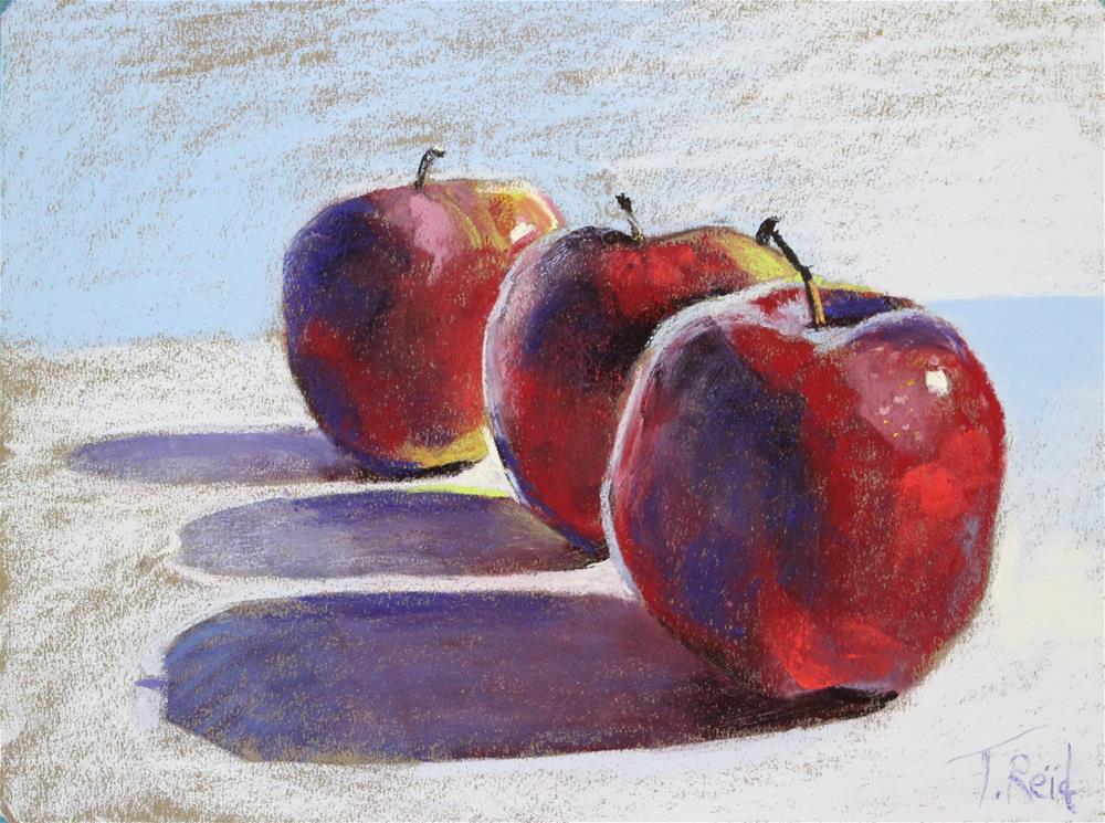 """Three Apples"" original fine art by Toby Reid"