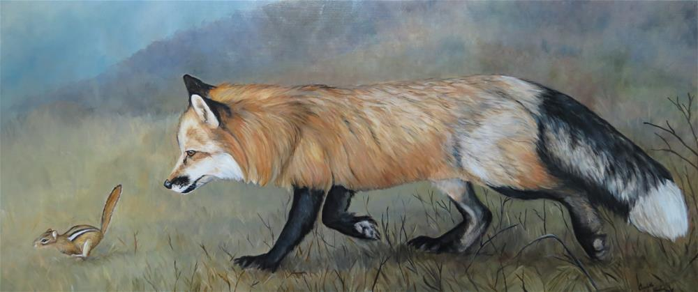 """Red Fox Encounter"" original fine art by Charlotte Yealey"