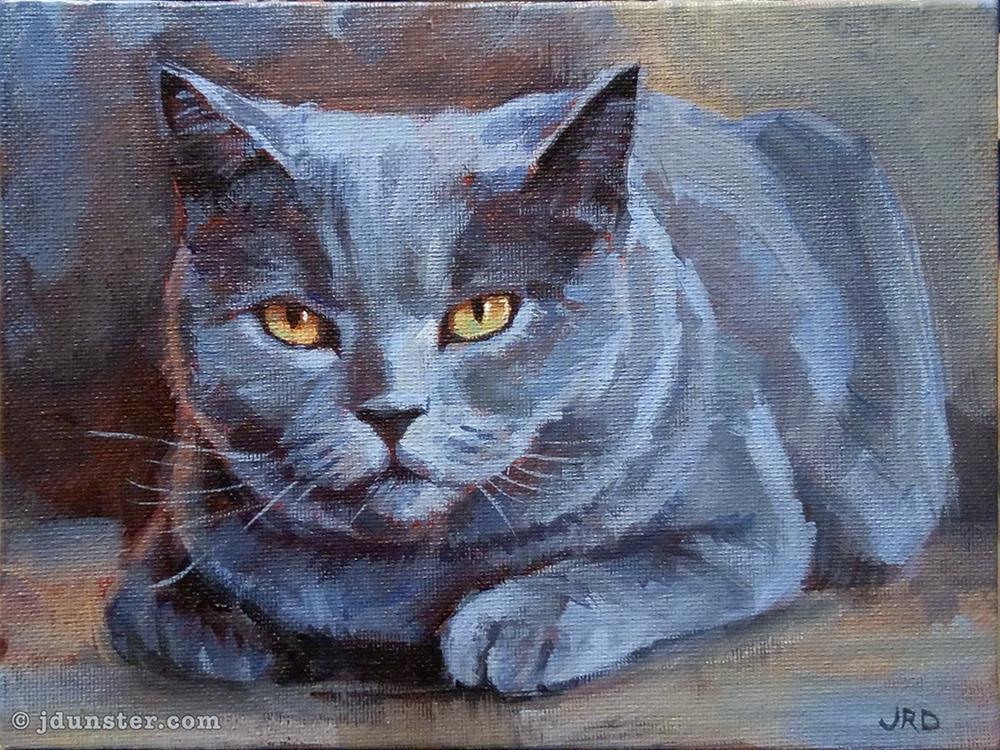 """His Royal Greyness"" original fine art by J. Dunster"