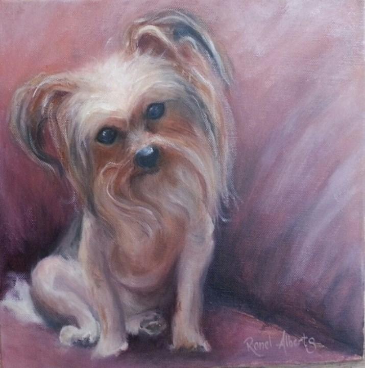 """""""Rosie"""" original fine art by Ronel Alberts"""