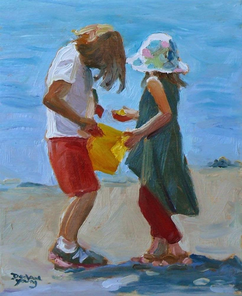"""738 Gathering Memories"" original fine art by Darlene Young"