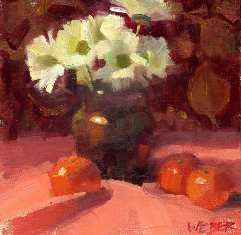 """Tangerine"" original fine art by Kathy Weber"