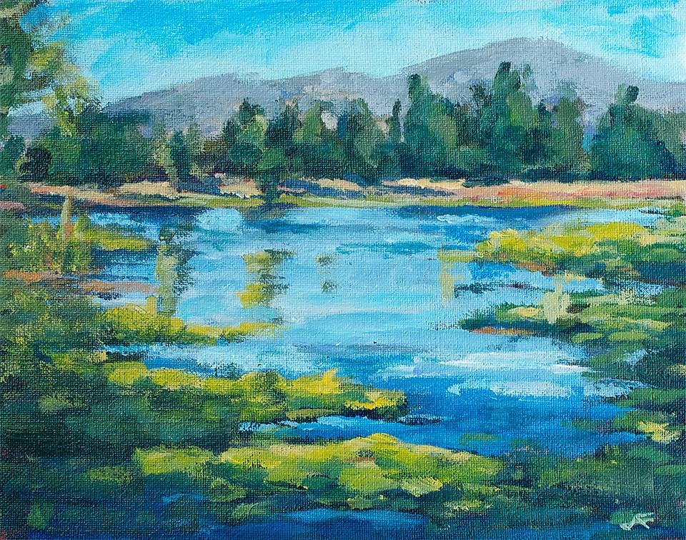 """Lilly Pond"" original fine art by J. Farnsworth"