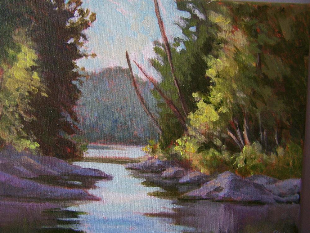 """On the Skootamata"" original fine art by Joan Reive"