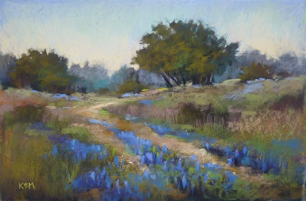 """""""Tips for Powerful Color in a Landscape Painting"""" original fine art by Karen Margulis"""